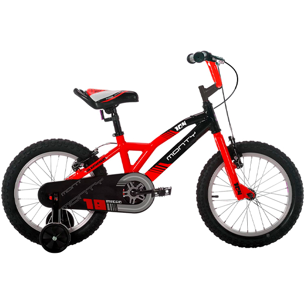 """Bicicleta niño Monty 104 18"""" rojo"""